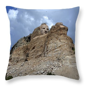 Throw Pillow featuring the photograph Crazy Horse by Jerry Cahill