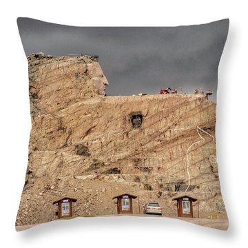 ...entrance Crazy Horse Memorial South Dakota.... Throw Pillow