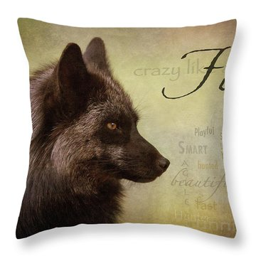 Crazy Like A Fox Throw Pillow
