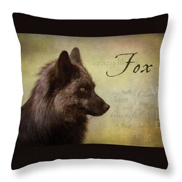 Crazy Like A Fox Throw Pillow