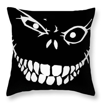 Crazy Monster Grin Throw Pillow