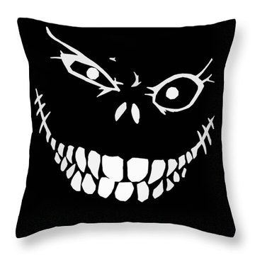 Crazy Monster Grin Throw Pillow by Nicklas Gustafsson