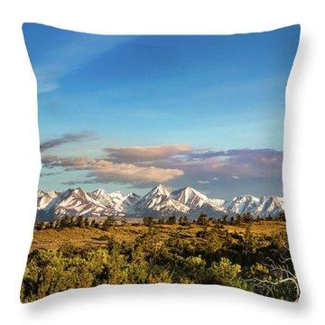 Crazy Mountains Throw Pillow