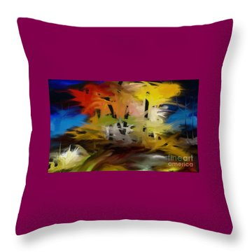 Crazy Nature Throw Pillow by Rushan Ruzaick