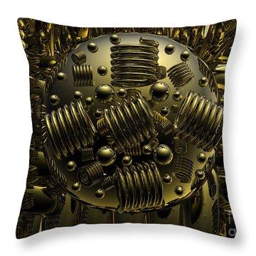 Crazy Throw Pillow by Robert Orinski