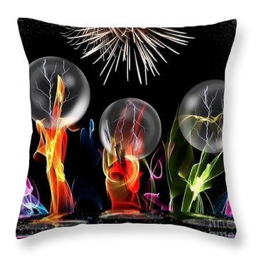 Crazy Space By Nico Bielow Throw Pillow