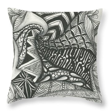 Crazy Spiral Throw Pillow