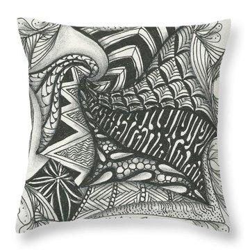 Crazy Spiral Throw Pillow