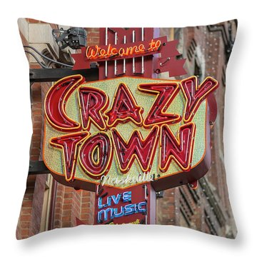 Throw Pillow featuring the photograph Crazy Town by Stephen Stookey