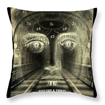 Crazy Train Throw Pillow