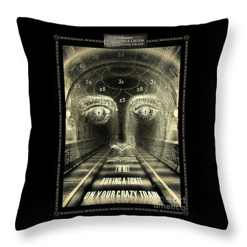 Crazy Train Throw Pillow
