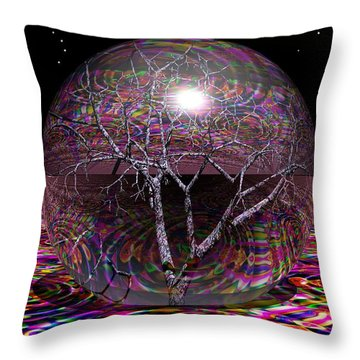 Crazy World Throw Pillow