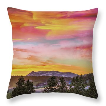 Throw Pillow featuring the photograph Crazyville by James BO Insogna