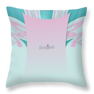 Cream Mint Throw Pillow