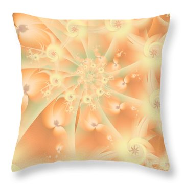 Creamsicle Mint Throw Pillow by Michelle H