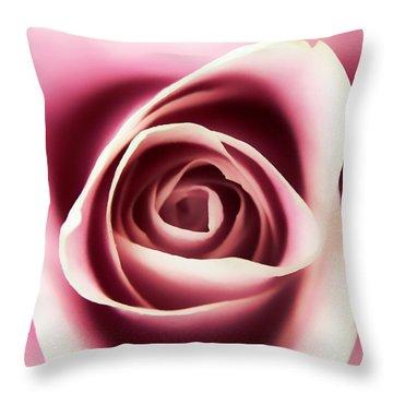 Creamy Pink Throw Pillow