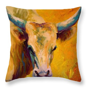 Creamy Texan - Longhorn Throw Pillow