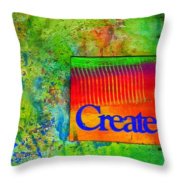 Create Throw Pillow by Angela L Walker