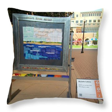 Create Rinse Repeat Throw Pillow