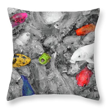 Create Your Own Happiness And Break Free Of The Grey Throw Pillow