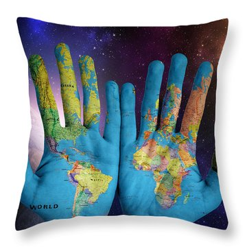 Created By God's Own Hands Throw Pillow