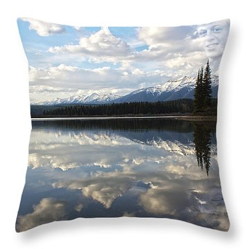 Created - He Is Calling Throw Pillow by Janie Johnson