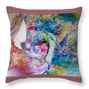 Created To Create Throw Pillow