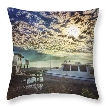 Coastal Landscape Throw Pillow
