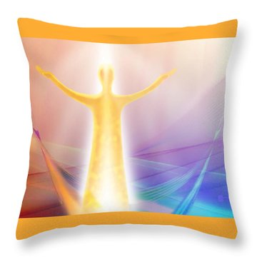 Creating Balance Throw Pillow
