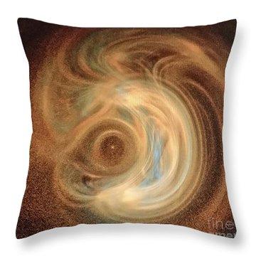 Creation Throw Pillow by Diamante Lavendar