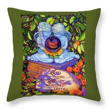 Garden Wisdom 1-creation Throw Pillow