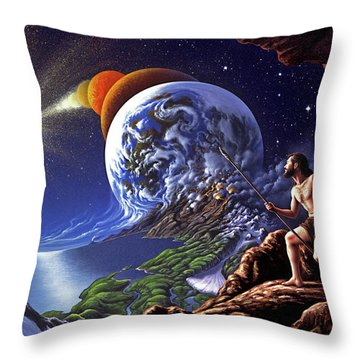 Evolution Throw Pillows