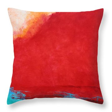 Throw Pillow featuring the painting Creation by M Diane Bonaparte