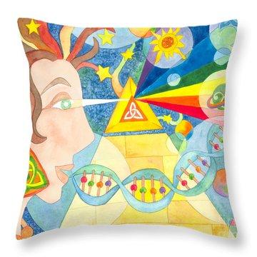 Creation Myth Throw Pillow by Kristen Fox