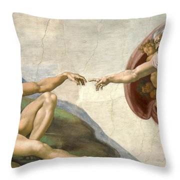 Michelangelo Throw Pillows