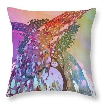 Creation Of An Orange Tree Throw Pillow by Kate Krivoshey