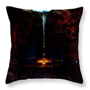 Creation Of Time Throw Pillow