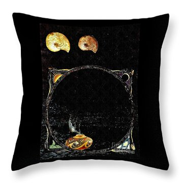 Creation Of Water Throw Pillow by Sarah Loft