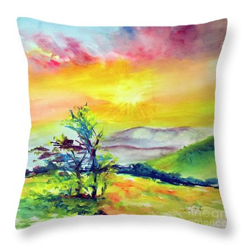 Creation Sings Throw Pillow