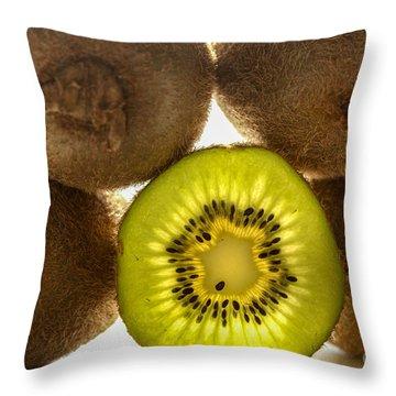 Creative Kiwi Light Throw Pillow
