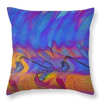 Throw Pillow featuring the digital art Creative Motion by Linda Sannuti
