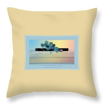 Throw Pillow featuring the photograph Creativity And Awareness In Yoga by Felipe Adan Lerma