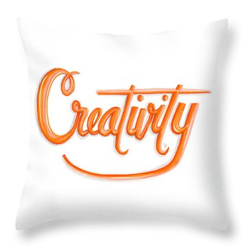 Throw Pillow featuring the drawing Creativity by Cindy Garber Iverson