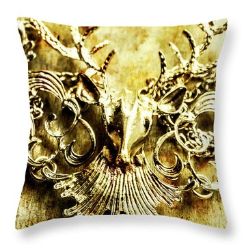 Creature Treasures Throw Pillow