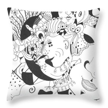Creatures And Features Throw Pillow