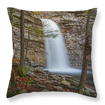 Creatures In The Mist Throw Pillow by Angelo Marcialis