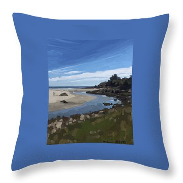 Creek At Good Harbor Beach, Gloucester, Ma., Sept. 23, 2015 Throw Pillow
