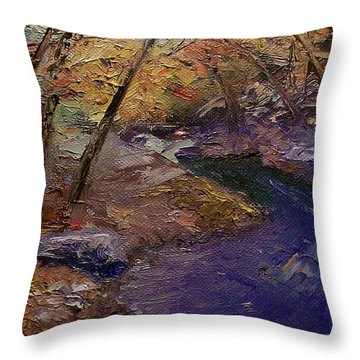 Creek Bank Throw Pillow