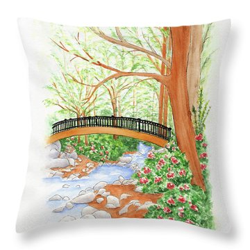 Creek Crossing Throw Pillow