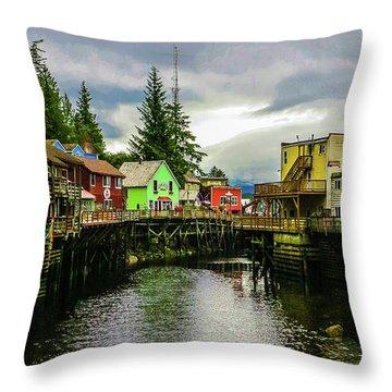 Creek Street 1 Throw Pillow